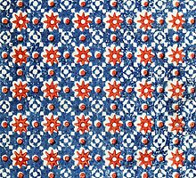 Red White and Blue Patriotic Print Pattern by RedPine