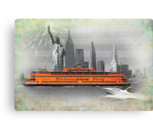 new york icons Canvas Print