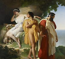 Telemachus and Eucharis, 1824 by Bridgeman Art Library