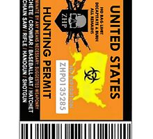 Zombie Hunting Permit by CaptainJeff