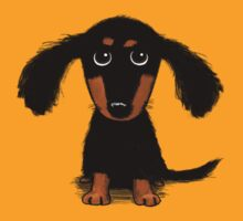 Long Haired Dachshund Puppy by Jenn Inashvili