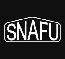 SNAFU Logo - white iteration by dennis william gaylor