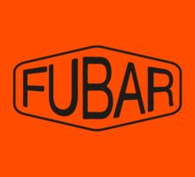 FUBAR logo - black contrast version Kids Clothes