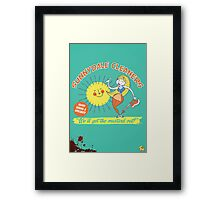 Sunnydale Cleaners Framed Print