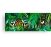 Jungle Eyes - Tiger & Panther Canvas Print