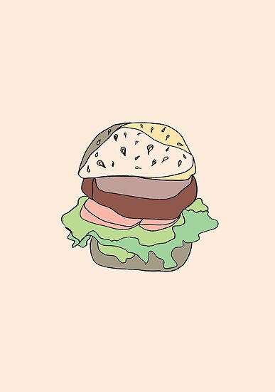 Retro Abstract Burger by Todd Fischer