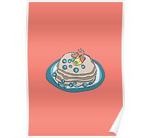 Retro Abstract Pancakes Poster