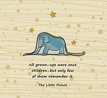 The Little Prince - Elephant inside Boa Constrictor by scottorz
