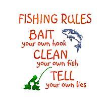 FISHING - RULES Photographic Print