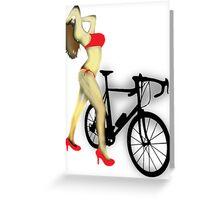 SEXY Cycle BIKE PRINT  Greeting Card