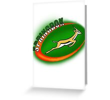SPRINGBOK RUGBY SOUTH AFRICA Greeting Card