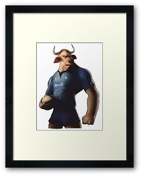 SOUTH AFRICA SEXY SUPER THE BULL RUGBY BLUE BULLS SUPORTER T SHIRT BRAAI BILTONG by JAYSA2UK