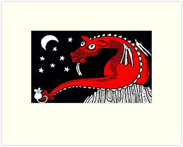 Little Red Dragon by Anita Inverarity