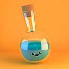 Round Flask - Cute Chemistry by chayground