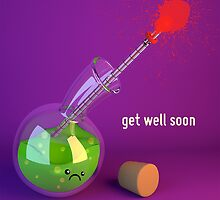 Get Well Soon - Thermometer - Cute Chemistry by chayground