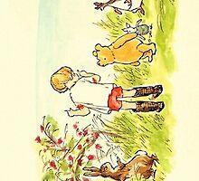 the whole gang; winnie the pooh by shoshgoodman