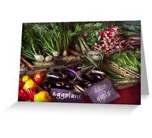 Food - Vegetables - Very fresh produce  Greeting Card