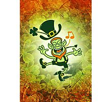 Irish Leprechaun Dancing and Singing Photographic Print