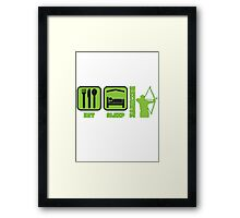 EAT SLEEP RECURVE Framed Print