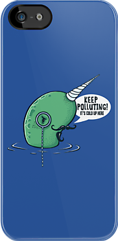 Evil Narwhal Favors Global Warming by BootsBoots