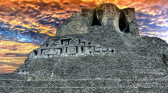 Xunantunich Mayan Ruin in Belize, Central America by Jeremy Lavender Photography