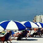 Clearwater Beach Umbrellas by kodakcameragirl
