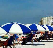 Clearwater Beach Umbrellas by Diane Trummer Sullivan