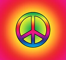 Iphone Case - Peace Sign - Spectrum 3 by Mark Podger