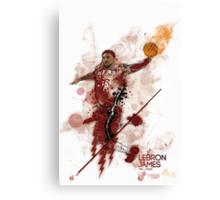 Lebron James tribute Canvas Print