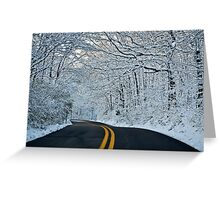 Wet Snow Greeting Card