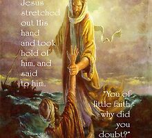 Jesus stretched out His hand-Matthew 14:31 by vigor