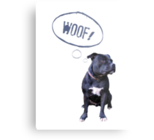 I love Staffies Metal Print