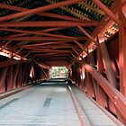 Inside the Hillsgrove Covered Bridge by Gene Walls