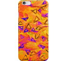 TECHNO VIBE 2 Collaboration Piece, Bold Colorful Abstract Watercolor Painting Music Rhythm Fine Art iPhone Case/Skin