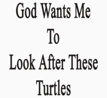God Wants Me To Look After These Turtles by supernova23