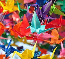 Paper Cranes by whitehursta