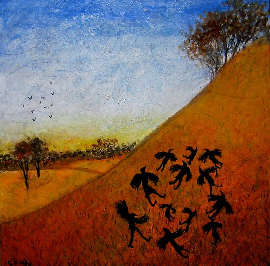 crows on the hill by glennbrady
