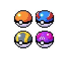 Pokeball Pixel Art  Photographic Print
