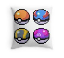 Pokeball Pixel Art  Throw Pillow