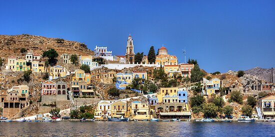 Evangelismos Church, Symi by Tom Gomez