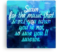 Swim for the music Canvas Print