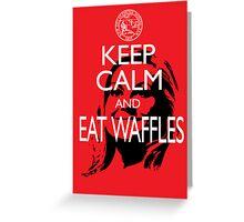 Keep Calm and Eat Waffles Greeting Card