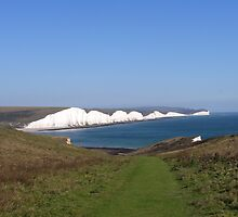 The Seven Sisters Chalk Cliffs / England by AllJDesigns