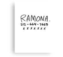 RAMONA FLOWERS Canvas Print