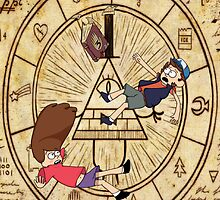 The Gravity Falls Mystery Twins - iPad Case by Pacific-Axe