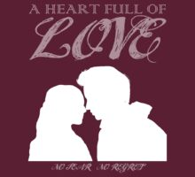 Marius & Cosette White Silhouette - Les Miserables - A Heart Full of Love Translucent Text by Hrern1313