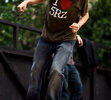 Skateboarder Dropping In by Ronan Hickey