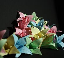 Origami Flowers #1-3 by jimmyzoo