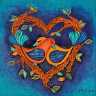 Love Birds by Lisa Frances Judd ~ QuirkyHappyArt