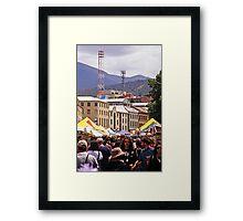 Salamanca Market—Hobart, Tasmania Framed Print